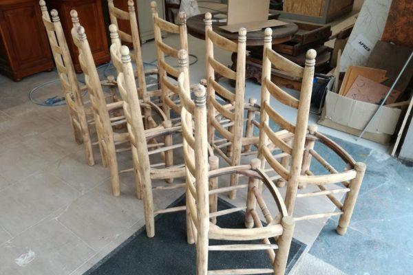 chaises gommées